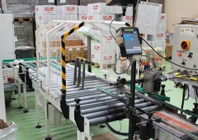 Impianto per raccolta, convogliamento e pallettizzazione di prodotti in scatole – Pastificio Paone Spa (LT)